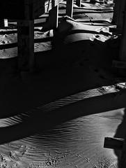 Sand below (-_MCS_-) Tags: sea blackandwhite bw beach sand shadows thenetherlands footprints zeeland ripples