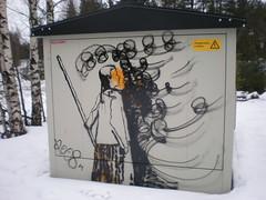 (Gnoomi) Tags: streetart art finland graffiti stencil echo kaiku ellenthesleff