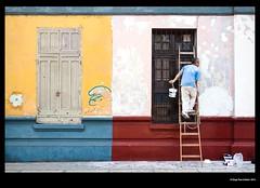 Barranco Style - Grumpy Smurf (idoazul) Tags: street people lima streetphoto barranco grumpysmurf perú