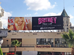 Retail, Britney Spears Caesars Entertainment at Hollywood and Highland, PSV Billboard