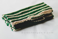 Green & White Striped Hand Warmers (Crochet Genie) Tags: hand knit gloves knitted warmers handwarmers fingerless crochetgenie crochetgeniecom