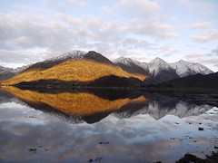Setting Sun Over the Five Sisters of Kintail, Kyle & Lochalsh - John Mills