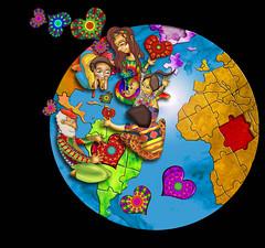 ILUSTRACIÓN PARA HOME DE VISION MUNDIAL (planeta urazan) Tags: world kids niños latinoamerica mundo tierra planetatierra