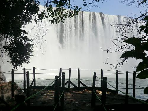 Zambia. Catarata Lumangwe. El mirador de abajo