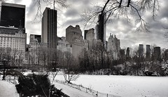 Central Park - Panorama (@ThetaState) Tags: city winter urban ny newyork architecture buildings centralpark manhattan january 2014 w59thstreet uploaded:by=flickrmobile flickriosapp:filter=nofilter