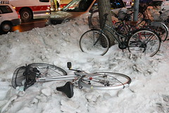 Bicycle Trapped In Snow (Jerry (jerrywongjh)) Tags: trip holiday japan sapporo hokkaido tour 2013