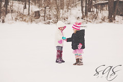 DSC_5073 (a bit of sas photography) Tags: winter girls friends snow cold childhood togetherness toddler friendship boots hats together trust