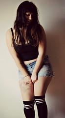 Who I am. (Araselio) Tags: portrait selfportrait tattoo self myself nikon natural shy straightedge emotional feels nomakeup sxe tattoed tattoedgirl mostrar emocional emotivo nikond3000