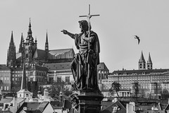 This is ... Prague! (karinavera) Tags: city bridge bw art photography blackwhite arquitectura czech prague cathedral praha praga czechrepublic vitus attractions sanvito nikond3200 bestcapturesaoi
