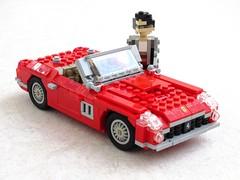 Ferrari 250 GT SWB California (1) (Mad physicist) Tags: california italy car lego ferrari 250 ferrisbueller swb