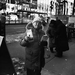 - (PatrickYHC) Tags: portrait people toronto mediumformat xpro crossprocess streetphotography streetportrait rangefinder crossprocessing filmphotography blackandwhitefilm blackandwhiteportrait kodakportra160 blackandwhitestreetphotography zeisssuperikonta blackandwhitestreetportrait