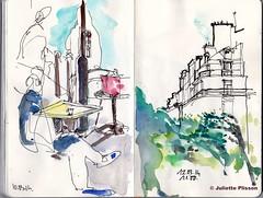 vue du Café (julietteplisson) Tags: paris sketch aquarelle croquis