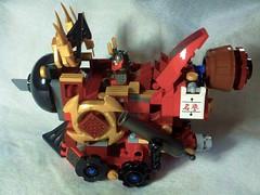 Nya's Phoenix TMOC #02 Nya's Phoenix Train - Left Siderain - Right Side (K D Lawyer) Tags: lego mech nya moc ninjago