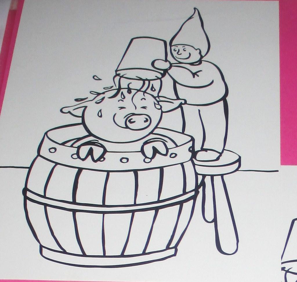 lustige schweine ausmalbilder  x13 ein bild zeichnen