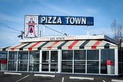 Pizza Town USA (ho_hokus) Tags: food sign vintage restaurant store newjersey unitedstates fastfood nj pizza storefront americana x20 2014 elmwoodpark pizzatown pizzatownusa fujix20 fujifilmx20