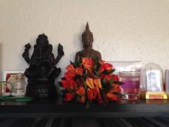 Making flower garland (radioink) Tags: flower worship buddha garland april honour 2014