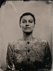 Portrait of Aline - 2 (patrickvandenbranden) Tags: 10inch 18x24 8x10inch alternativeprocess ambrotype bw collodion collodionhumide feminity femme fineart hermagis largeformat noiretblanc pictorialist portrait procédéalternatif retro studio vintage wetplate woman