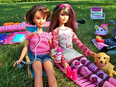 Spending time together (flores272) Tags: skipper skipperdoll camping outdoors doll dolls toy toys toydog accessories dollclothing dollfurniture dollaccessories