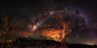 Milky Way through the Clouds - Harvey, Western Australia