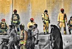 A #wall in #memorial of #Iranian #firefighters who #Lost their #lives on January 19, 2017 #tehran #iran . Created in #iphone7plus #snapseed #juxtaposer Photo by:Nima Bank (Nima Bank) Tags: wall memorial iranian firefighters lost lives tehran iran iphone7plus snapseed juxtaposer