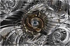 The Mind's Eye (Ross Hilbert) Tags: fractalsciencekit fractalgenerator fractalsoftware fractalapplication fractalart algorithmicart generativeart computerart mathart digitalart abstractart fractal chaos art mandelbrotset juliaset mandelbrot julia orbittrap metal sculpture spiral copper brass steel