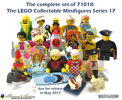 The excitement continued in LEGO Minifigures in this brand new traditional Series 17 (WhiteFang (Eurobricks)) Tags: lego collectable minifigures series city town space castle medieval ancient god myth minifig distribution ninja history cmfs sports hobby medical animal pet occupation costume pirates maiden batman licensed dance disco service food hospital child children knights battle farm hero paris sparta historic