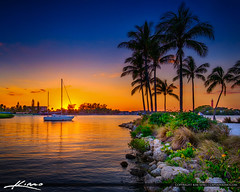 Sunset Jupiter Florida at Waterway taken from Dubois Park (Captain Kimo) Tags: duboispark florida hdrphotography jupiter jupiterlighthouse luminar palmbeachcounty sailboat