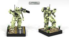 Uriel Scout Engine (CK-MCMLXXXI) Tags: uriel scout engine lego moc mech battledroid titan ldd digital render robot