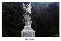 Onlooker (KarlProuse) Tags: saint grave headstone trees dusk angel life death