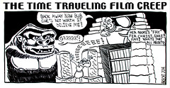 Time Traveling Film Creep - King Kong 1212 (Brechtbug) Tags: the barnacle twin presents time traveling film creep king kong a brecht newspaper cartoon without paper comic comics theater theaters theatre movie movies films new york city brechtbug gadfly nyc 2017 comix ape gorilla gorillas cartoons beware cinema creeps segue segway timemachine machine