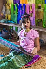 1087w (Nadia Isakova) Tags: asia asian southeastasia myanmar burma burmese shanstate inlelake inle lake lakes ywamavillage padaungtribe tribe tribes neck neckcoil neckring longneck weaving women woman youngwoman 1 one person sightseeing symbol january vertical portrait nadiaisakova nadia travel destination traveldestinations tourism holidays vacation leisure trip