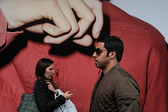 Itch? (samrodgers2) Tags: londonstreetphotography london colour street juxta juxtaposition hand