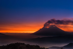 Closer (neritron) Tags: sunset blue yellow red silhouette siluet landscape night volcano volcanoe landscapes mist misty nikon d750 nd reverse filter hitech