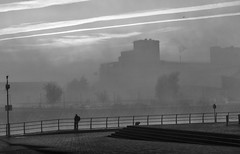 untitled (graemecave) Tags: quays salfordquays winter exposure sky uk docks a6000 salford lancashire camera bw manchester