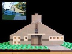 LEGO Vanna Venturi House - Front (keoarchitect) Tags: building design architect postmodern complexityandcontradiction postmodernism pennsylvania house mothershouse vsba chestnuthill philadelphia legoarchitecture venturiscottbrownandassociates robertventuri lego legoideas legomoc venturi architecture