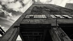 Zeche Zollverein (frankdorgathen) Tags: wideangle outdoor architecture abandoned ruhrgebiet essen zollverein zeche industry building blackandwhite monochrome
