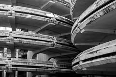 Space invaders (pi3rreo) Tags: noiretblanc white black urbain urban extérieur fujinon fujifilm xe2 ville city parking park hauteur haut paris seine denis formes abstract abstrait