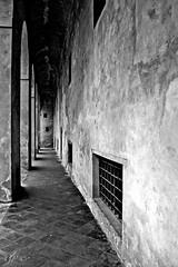 """The Walls"" (giannipaoloziliani) Tags: monochrome blackandwhite walls lights shadows flickr columns dark darkness streetphotography nikon"