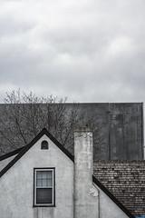 Big Wall (Mister Day) Tags: juxtaposition concrete wall house window edmonton huge bigly walls big proportion architecture urbanplanning