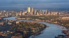 Thames Estuary (Nige H (Thanks for 8m views)) Tags: landscape city cityscape london canarywharf river riverthames thamesestuary england
