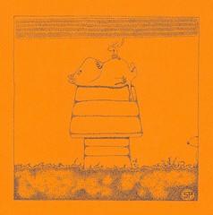 Kaustinen ennustaa juhannussään. (neppanen) Tags: sampen discounterintelligence art taide piirustus drawing moomin muumi peanuts kaustinen muumipeikko ressu snoopy woodstock sääennuste