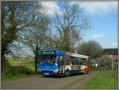 34643, Ashby Road, Braunston (Jason 87030) Tags: stagecoach dennis dart pointer slf plaxton village northants northamptonshire ashbyroad 2017 april sony a6000 ilce publictransport rugby cotonpark 12 trees sky weather shot local 34643 gx54dwo