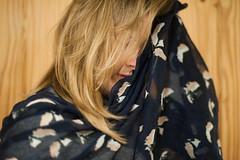Day 57, Year 10. (evilibby) Tags: 365 36510 365days 365days10 libby blonde scarf messyhair hide hiding hidden