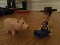 Woody and Hamm (splinky9000) Tags: disney pixar toy story lego toys minfigures kingstory kingston sheriff woody hamm