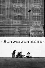 Bundesplatz - Schweizerische Nationalbank (mercurmas) Tags: canonet ql17 film analog analogue canon adox cms 20