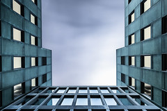 Pure State Series : The wrong Room [Explored] (Robert_Franz) Tags: architecture architectural longexposure urban city building abstract modern futuristic fineart facade sky colors clowds geometry symmetric design basel h
