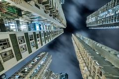 Quarry bay high rise (Bernhard Sitzwohl) Tags: hongkong quarrybay highrise urban travel night architecture living sky hk