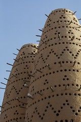 MAT14 (mariatarasoff) Tags: brown sand qatar doha katara cultural culture centre macro closeup wood sticks rustic birds patterns patterning geometric sky blue holes mud adobe traditional tradition column arch middle east eastern arcitecture arab arabia arabic gcc gulf museum islamic art contemporary modern water building iconic entry entrance cityscape view framing fountain skyline west bay corniche arabian sunset