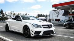 Mercedes-Benz C63 AMG Black Series (Bart van der Heijden) Tags: mercedesbenz mercedesamg amg c63 black series gtr gt r g63 spyshot mule testing supercar star tankstelle fuel petrol combo white camouflage mercedes benz photography canon vintage
