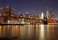Brooklyn Bridge (the_orl) Tags: longexposur long exposure reflection skyline light architecture architektur sky limit east river one world trade center amerika america new york manhatten